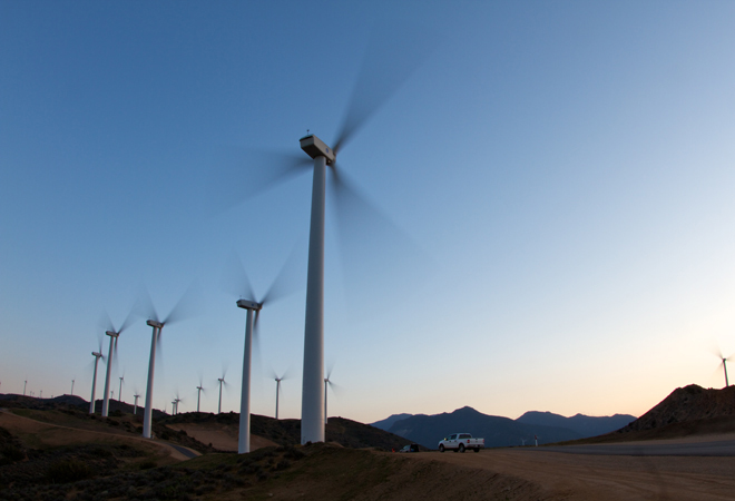 PSP31027-00, Pine Tree Wind Farm, LADWP, 80 1.5 MW Wind Turbines, Mojave Desert, California, USA, DI 3200x4800